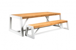 SUNS Trento - Garden table & bench - SUNS Green Collectie - 250x100cm