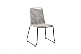 SUNS Elos - Dining Chair - SUNS Grey Collection - Matt royal grey - Petrolium blue