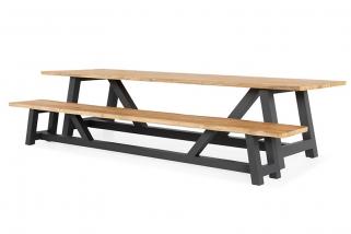Garden table/bench – Vasto – Green collection