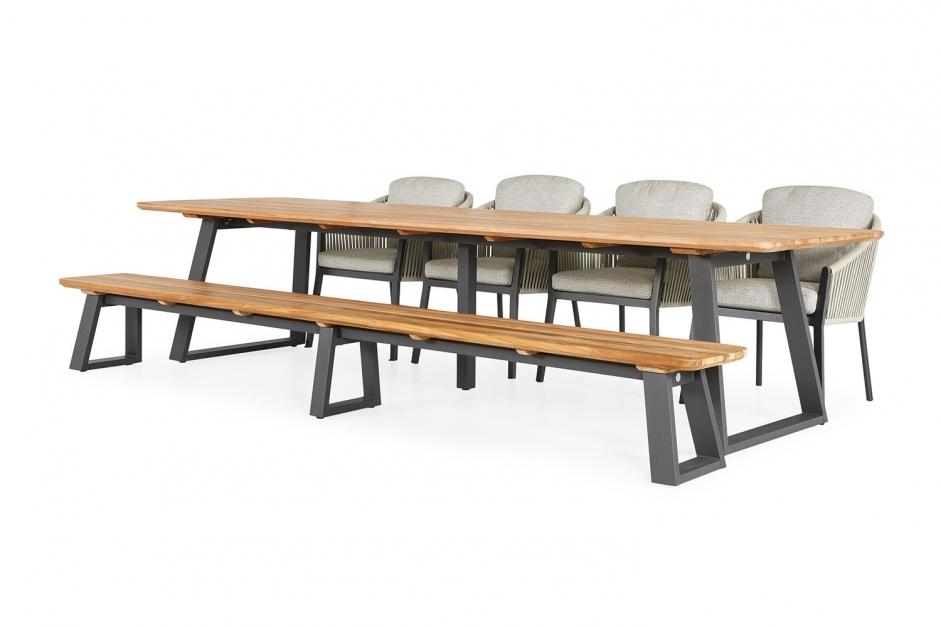 Dining chair – Avero – Orange collection – Tomar garden table/bench